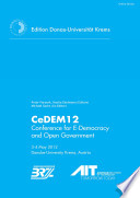 CeDEM 12 Conference for E Democracy and Open Government 3 4 May 2012 Danube University Krems  Austria