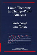 Limit theorems in change point analysis