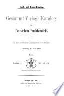 Gesammt-Verlags-Katalog des deutschen Buchhandels