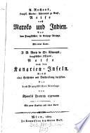A. Rochons Reise nach Maroko und Indien