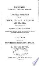 Dizionario italiano  inglese  francese