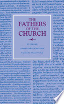 Commentary On Matthew The Fathers Of The Church Volume 117