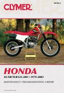 Honda XL XR TLR125 200 1979 2003