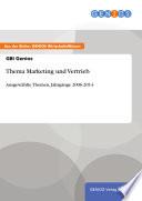 Thema Marketing und Vertrieb