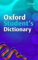 Oxford Student s Dictionary  2007 Edition