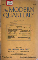 The Modern Quarterly Series