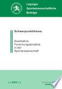Leipziger Sportwissenschaftliche Beiträge