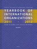 Yearbook of International Organizations 2011 2012