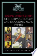 Russian Officer Corps Of The Revolutionary And Napoleonic Wars