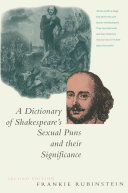 download ebook a dictionary of shakespeare's sexual puns and their significance pdf epub