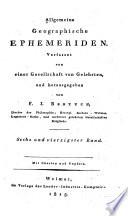 Allgemeine geographische Ephemeriden