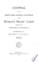 Journal of the     National Convention of the Woman s Relief Corps