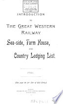 Introduction to the Great Western Railway Sea-side, Farm House and Country Lodging List