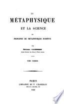 illustration La métaphysique et la science; ou, Principes de métaphysique positive