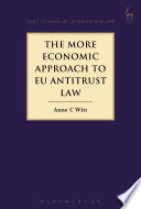 The More Economic Approach to EU Antitrust Law