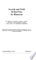 Growth and yield of red pine in Minnesota
