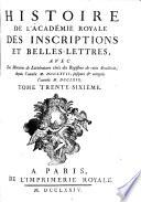 Histoire de l'Académie, avec Mémoires de littérature tirez des registres de cette Académie