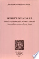 Pr  sence de Saussure