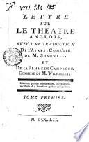 Lettre sur le théâtre anglois, avec une traduction de