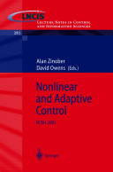 Nonlinear and Adaptive Control
