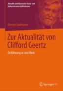 Zur Aktualit  t von Clifford Geertz