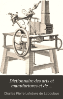 Dictionnaire des arts et manufactures et de l agriculture