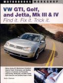VW GTI  Golf  Jetta  MK III   IV