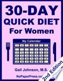 30 Day Quick Diet for Women
