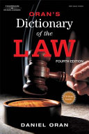 Oran s Dictionary of the Law