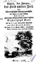 Eugen  der Zweyte  der Held unsrer Zeit  Ein   sterreichisches B  rgergem  hlde in 1 Aufz  von Carl Friedrich Heusler  Musik von