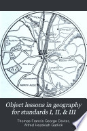Object Lessons in Geography for Standards I  II    III