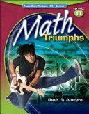 Math Triumphs  Grade 8  Student Study Guide  Book 1  Algebra