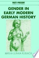 Gender in Early Modern German History