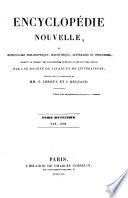 Encyclop  die nouvelle ou dictionnaire phylosophique  scientifique  litt  raire et industriel