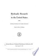 Hydraulic Research in the United States