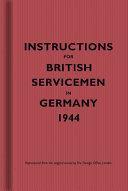 Instructions for British Servicemen in Germany 1944