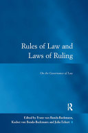 Rules of Law and Laws of Ruling