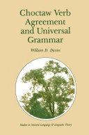 download ebook choctaw verb agreement and universal grammar pdf epub