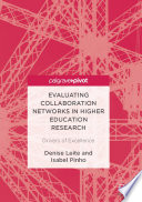 Evaluating Collaboration Networks in Higher Education Research