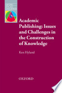 Academic Publishing  Issues and Challenges in the Construction of Knowledge   Oxford Applied Linguistics