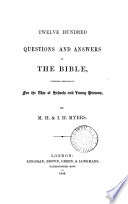 Twelve Hundred Questions And Answers On The Bible