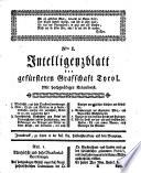 Intelligenzblatt der gefürsteten Grafschaft Tirol