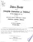 Jahres-Bericht über das Königliche Gymnasium zu Düsseldorf