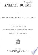 Appletons  Journal of Literature  Science and Art