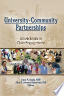 University-Community Partnerships : of your community community outreach partnership...