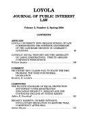 Loyola journal of public interest law
