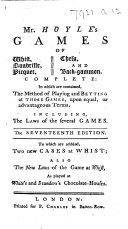 Book Mr. Hoyle's Games ... Seventeenth edition