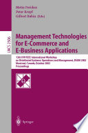 Management Technologies For E Commerce And E Business Applications