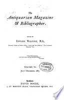 Walford s Antiquarian Magazine and Bibliographical Review