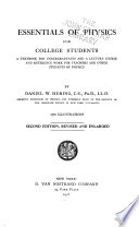 Essentials of Physics for College Students